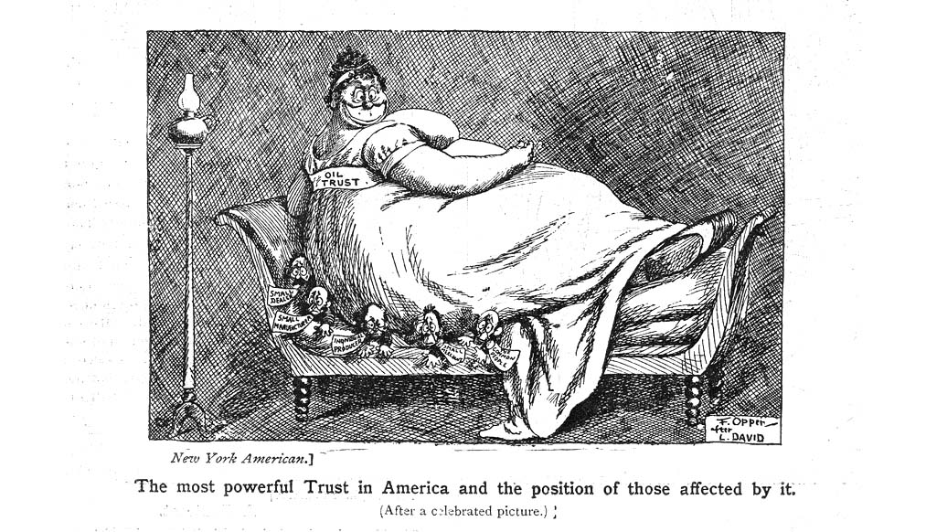 The American Trusts - cartoons and satires 1903-4