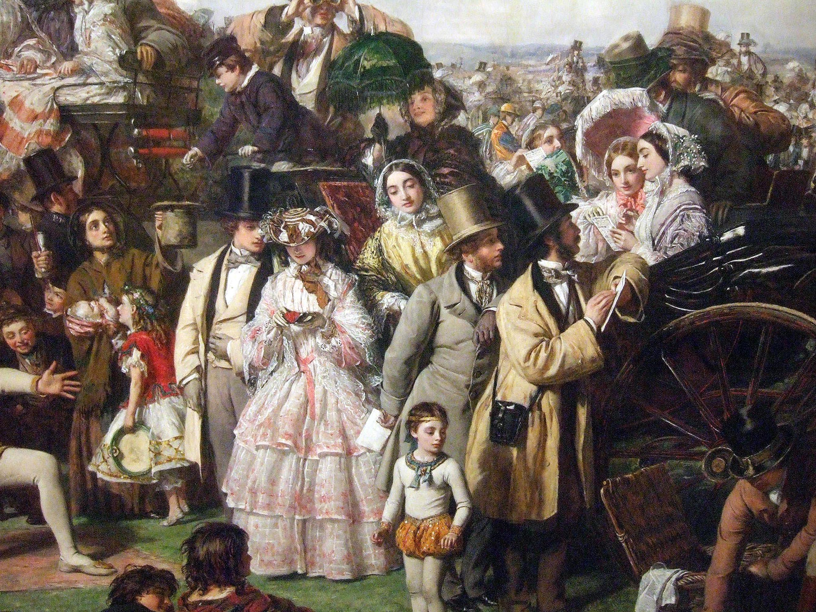 Art Encountered The Derby Day W P Frith 1856 8