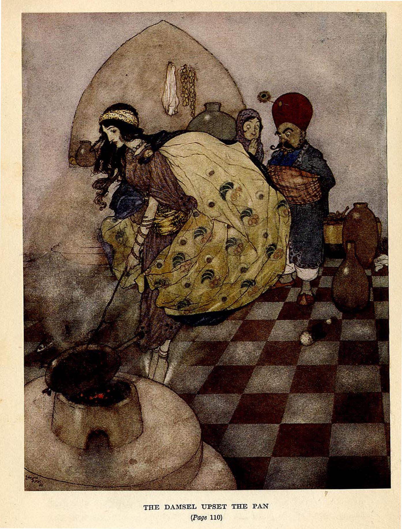 Photos: Edmund Dulac, The Alphabet Of Illustrators, Arabian Nights