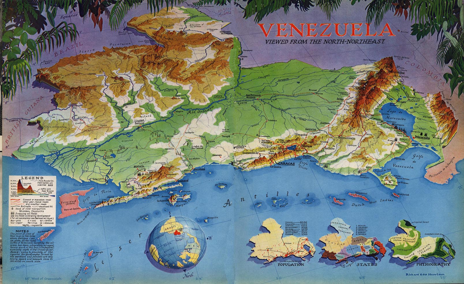Richard Eades Harrison - Venezuela Map