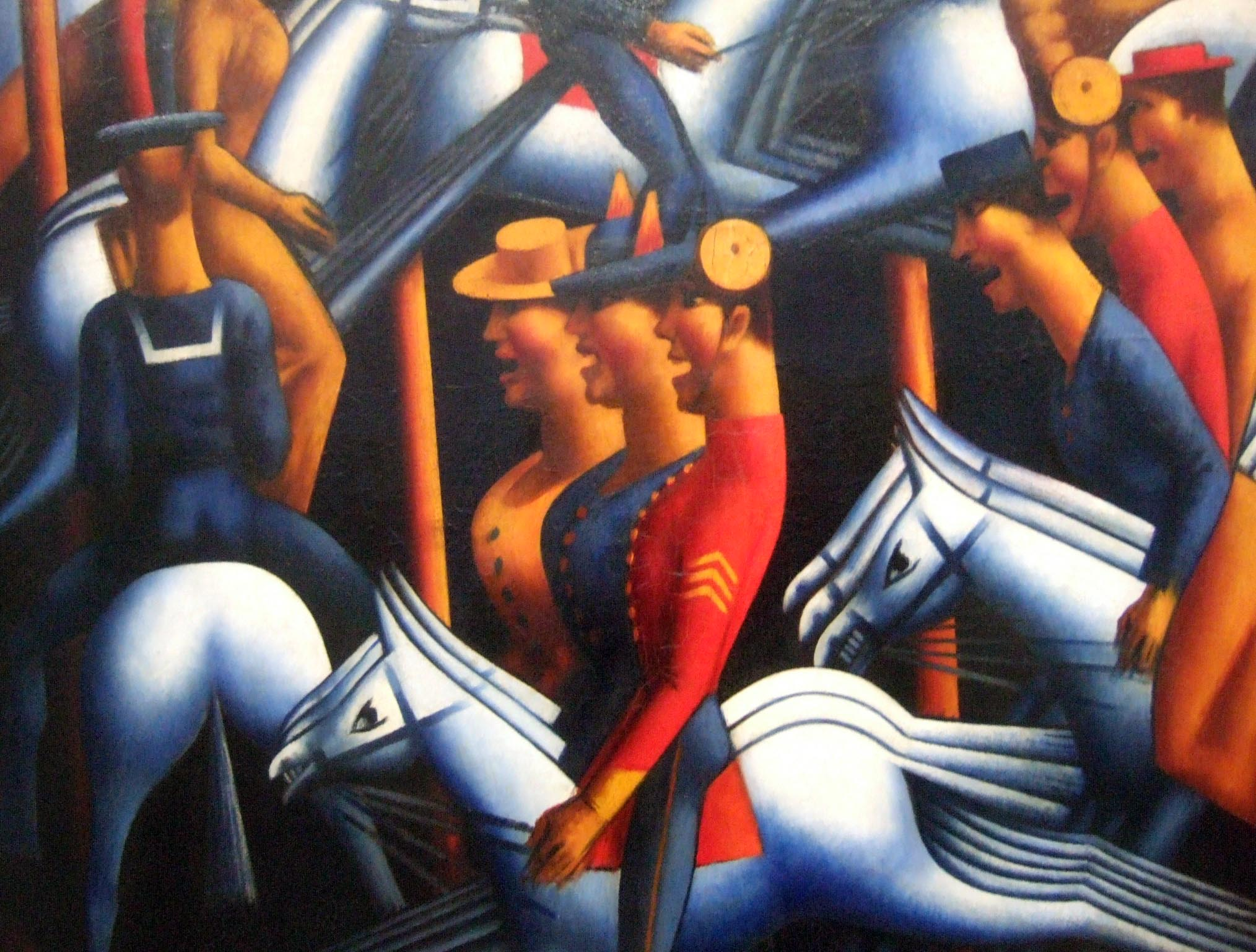Merry Go Round By Mark Gertler 1916 Tate Gallery
