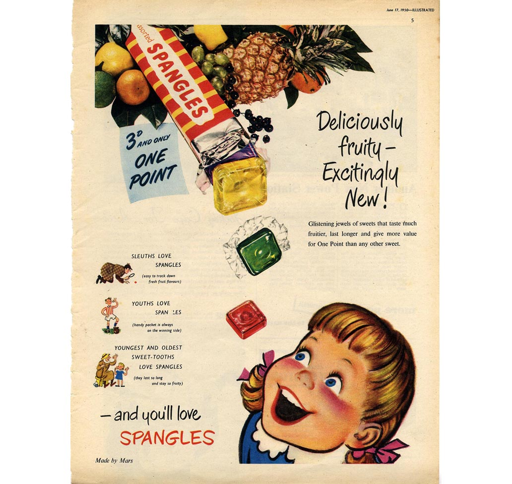 Sweets And Confectionery, Spangles