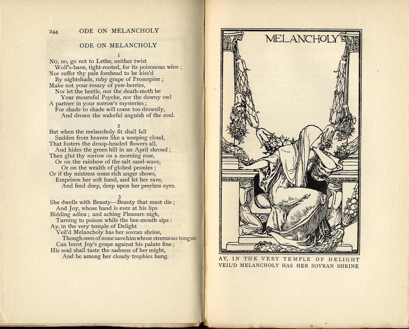 ode on melancholy commentary Poetry & immortality: john keats' 'ode to a nightingale' transcript date: tuesday, 12 may 2015 - 6:00pm location: museum of london 12 may 2015 poetry and immortality.