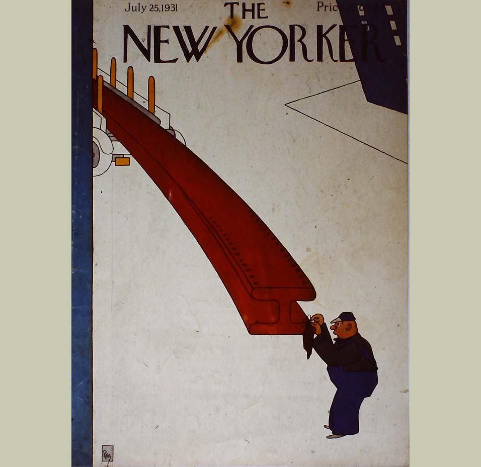 New Yorker Magazine - February 4, 1939 - FRONT COVER ONLY ~~ Bill Steig children