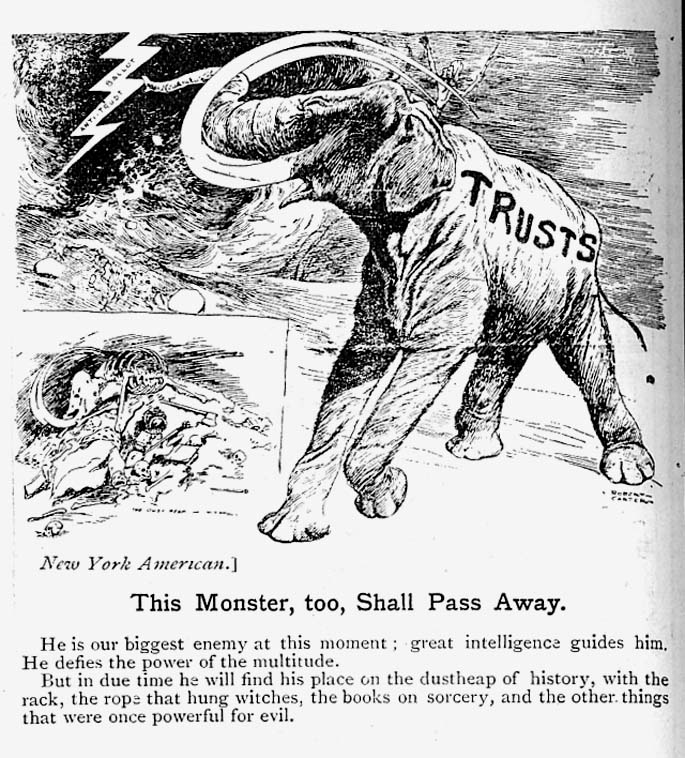 The American Trusts Cartoons And Satires 1903 4