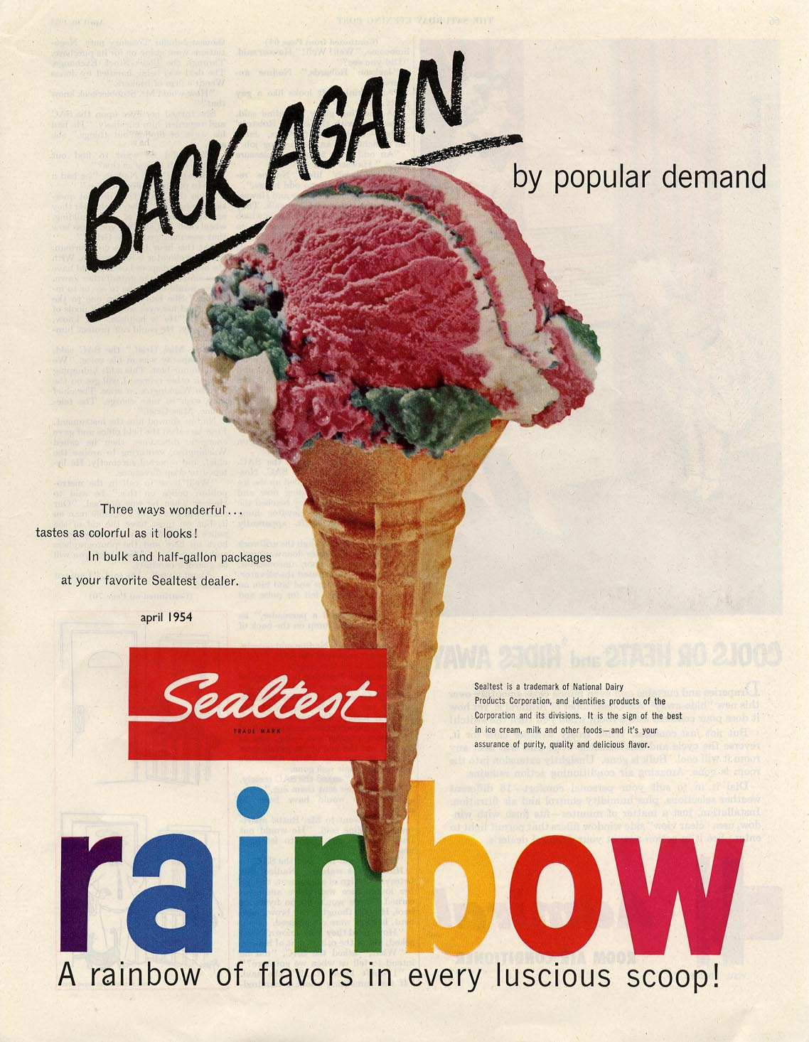 Brand-new Advertising archive, Ice Cream US FW69