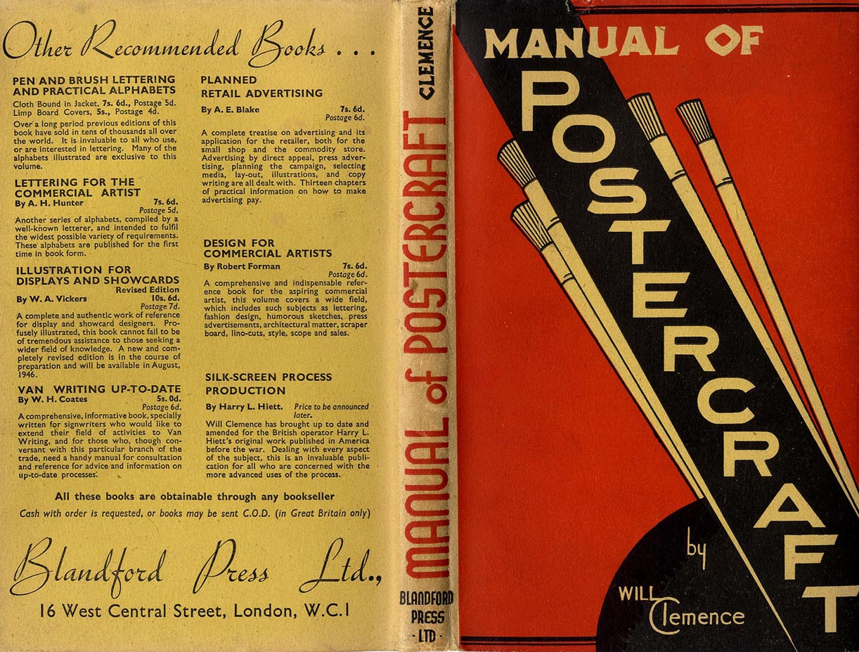 artists manuals will clemence manual of postercraft c1930