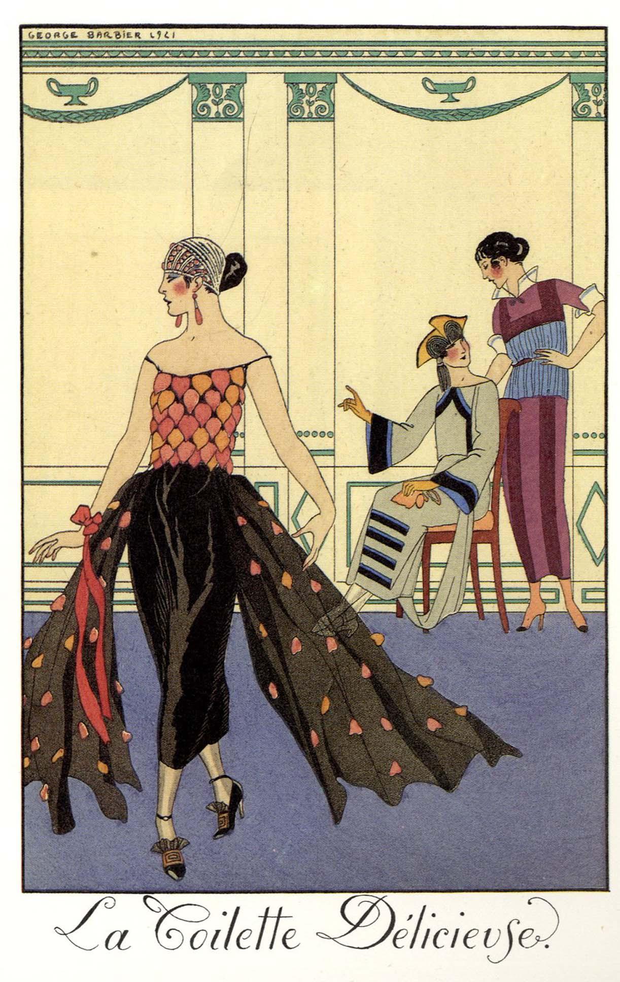 Table Design George Barbier Almanac Illustrations 1922 1926
