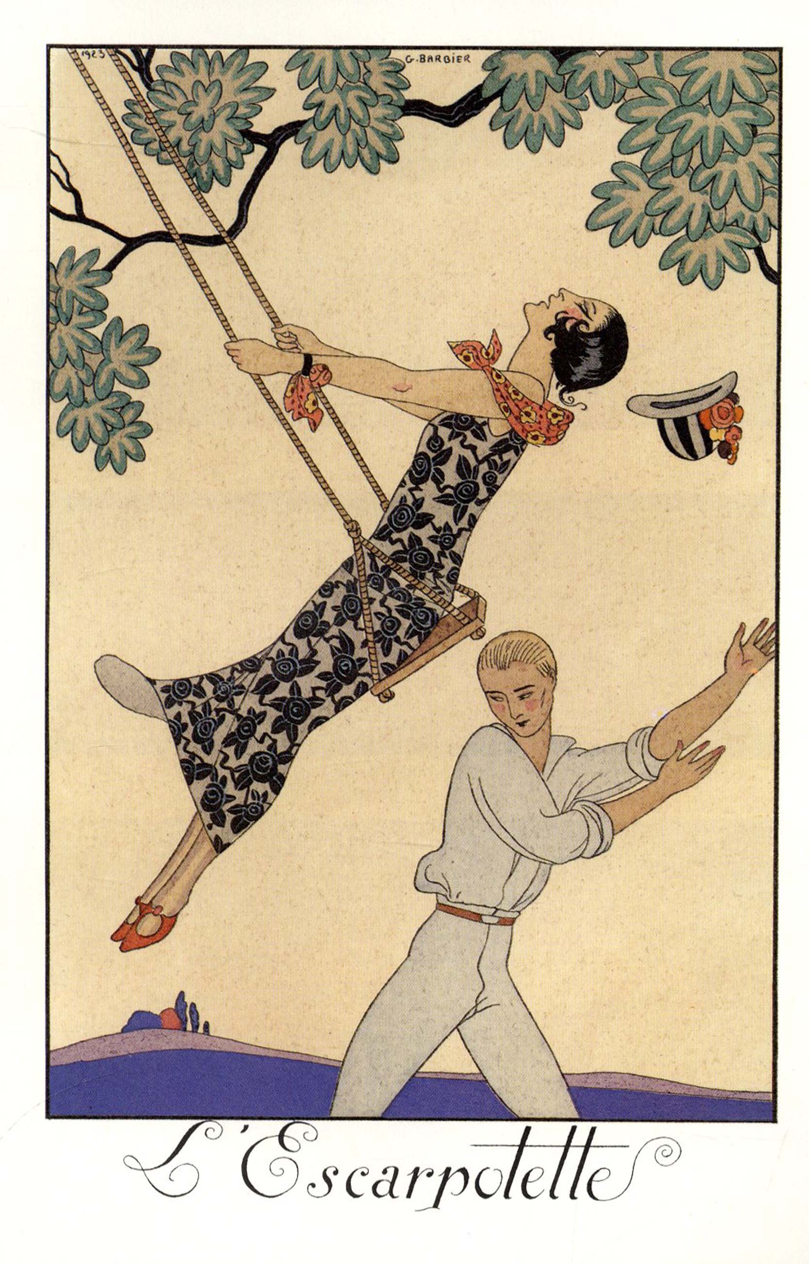 George Barbier Almanac Illustrations 1922 1926