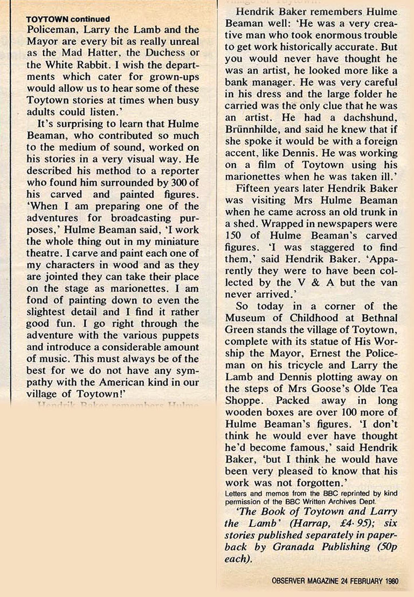 Hulme beaman obersver 1980