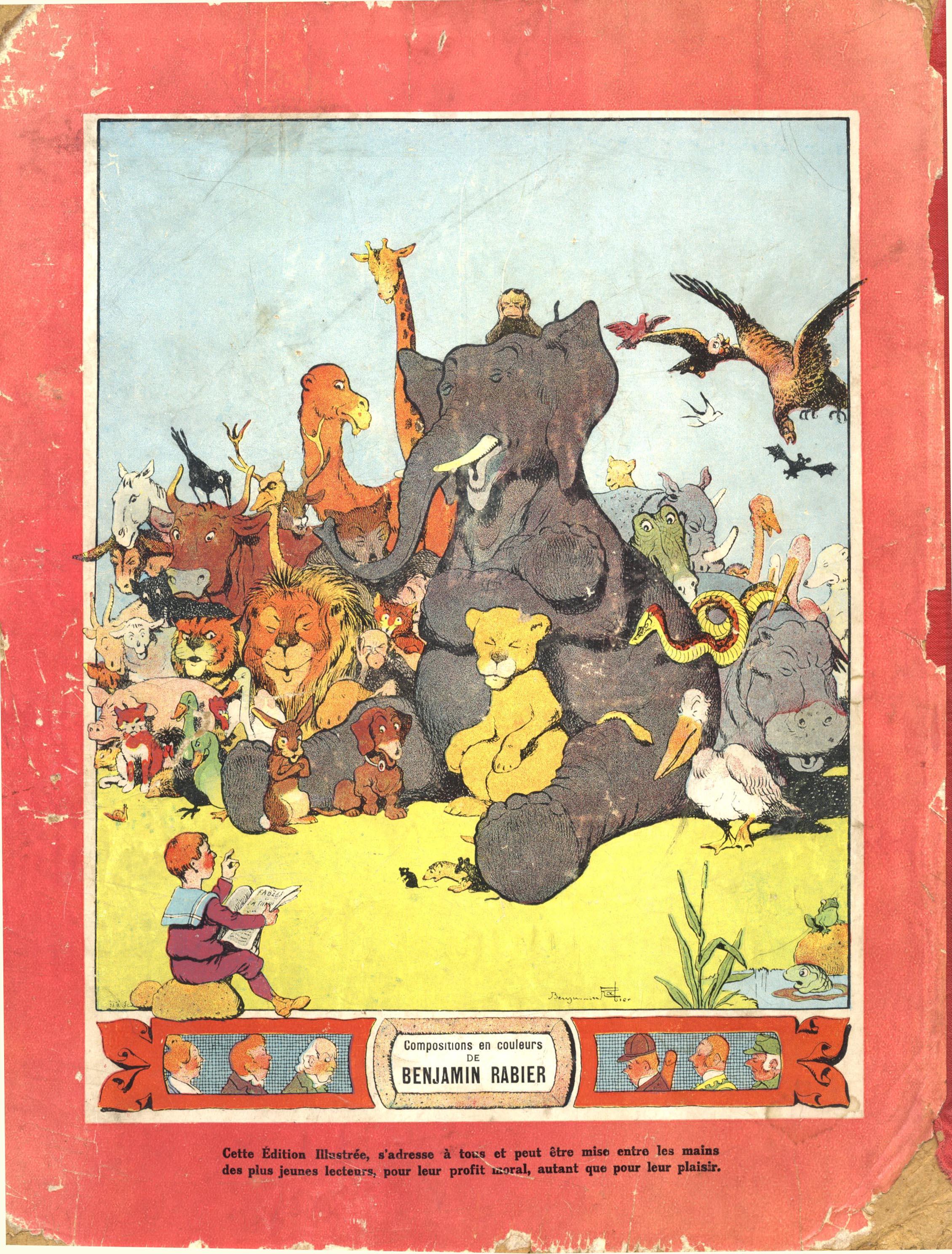 Benjamin Rabier, Fables de la Fontaine, 1906 Covers and Contents
