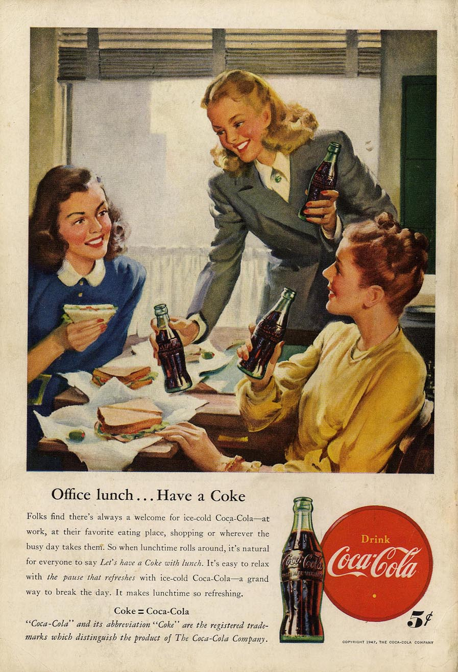 Coca-Cola Advertising, the American Way of Life, Mullen Archive