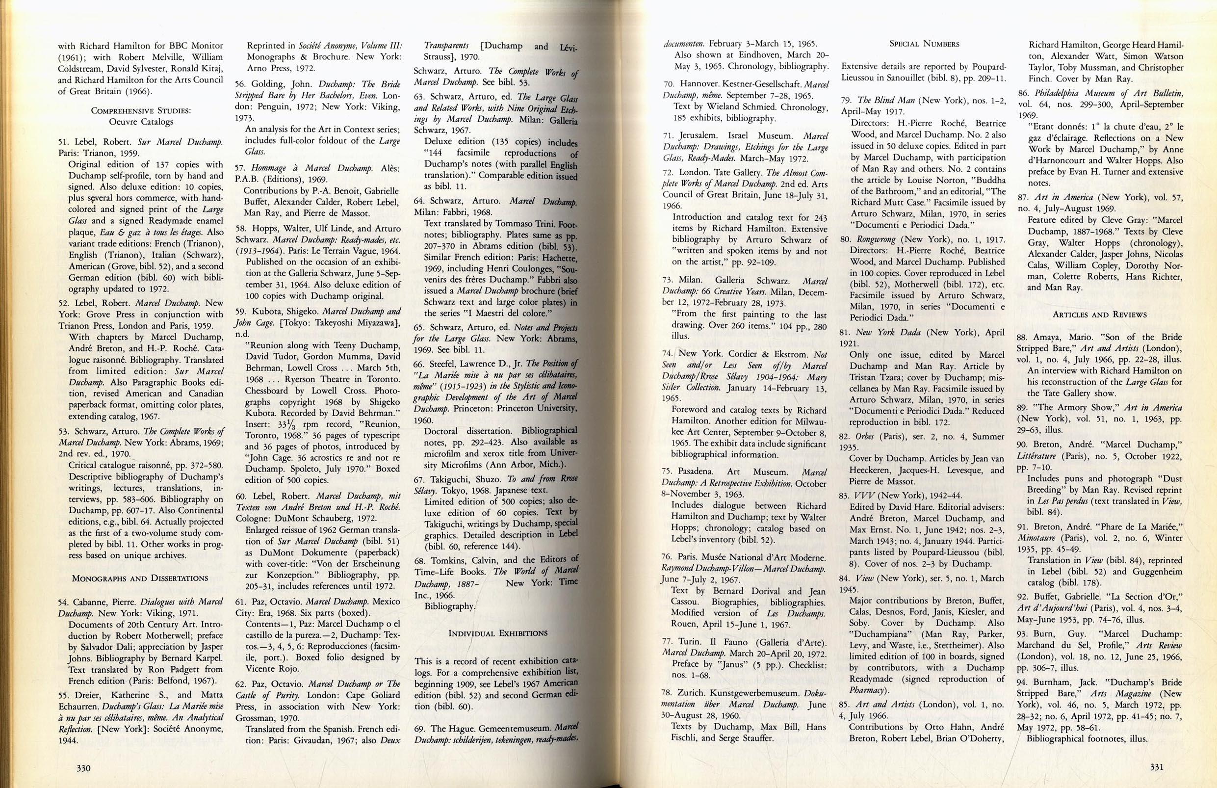 Duchamp Illustrated Bibliography