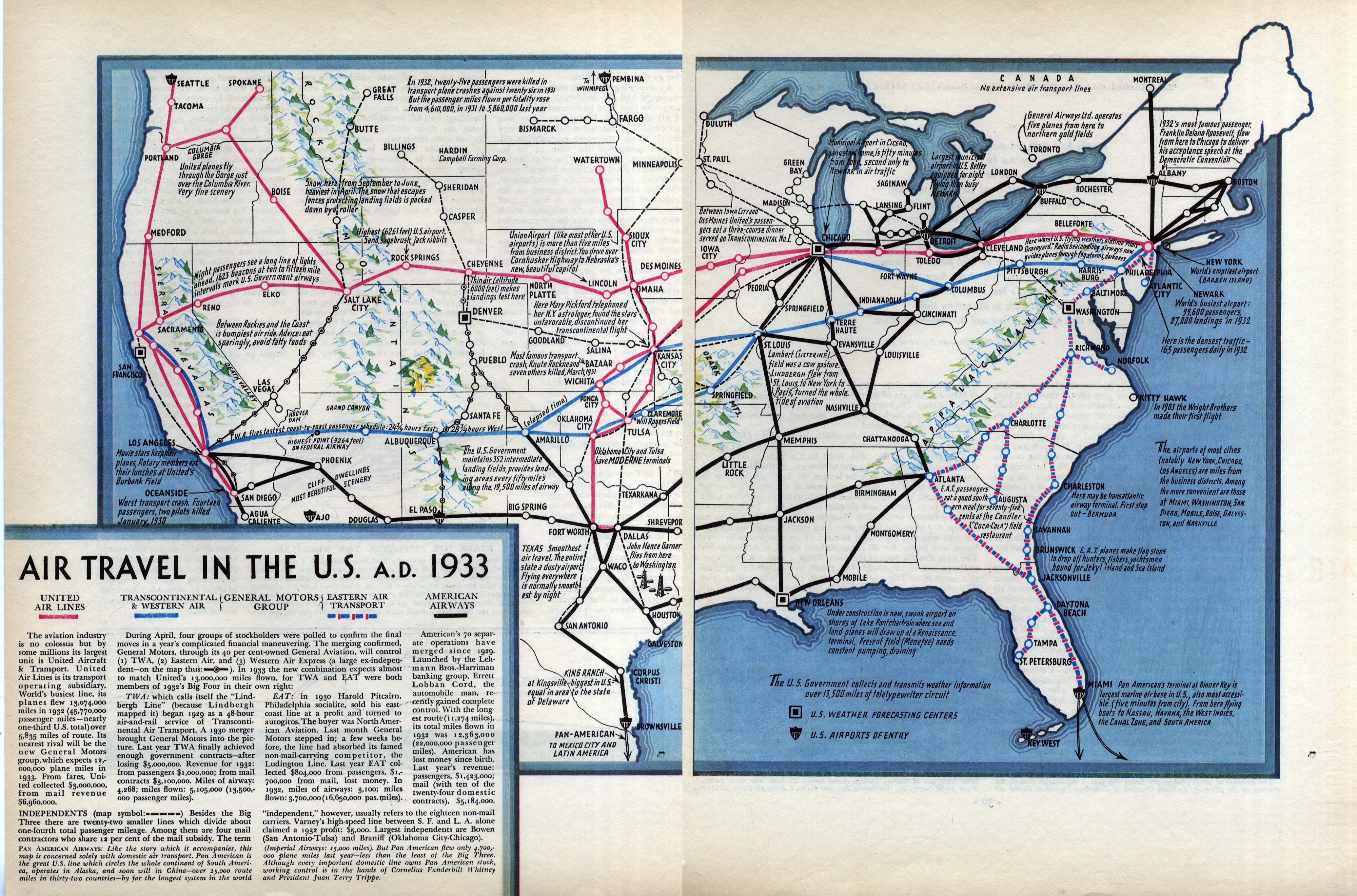FORTUNE MAGAZINE Informational Images Maps - Us travel map weather