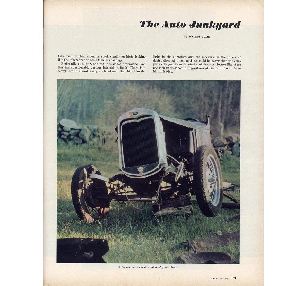 Walker Evans, The Auto Junkyard FORTUNE April 1962