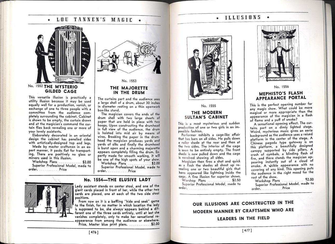 magic tricks and apparatus louis tannen 39 s catalogue. Black Bedroom Furniture Sets. Home Design Ideas