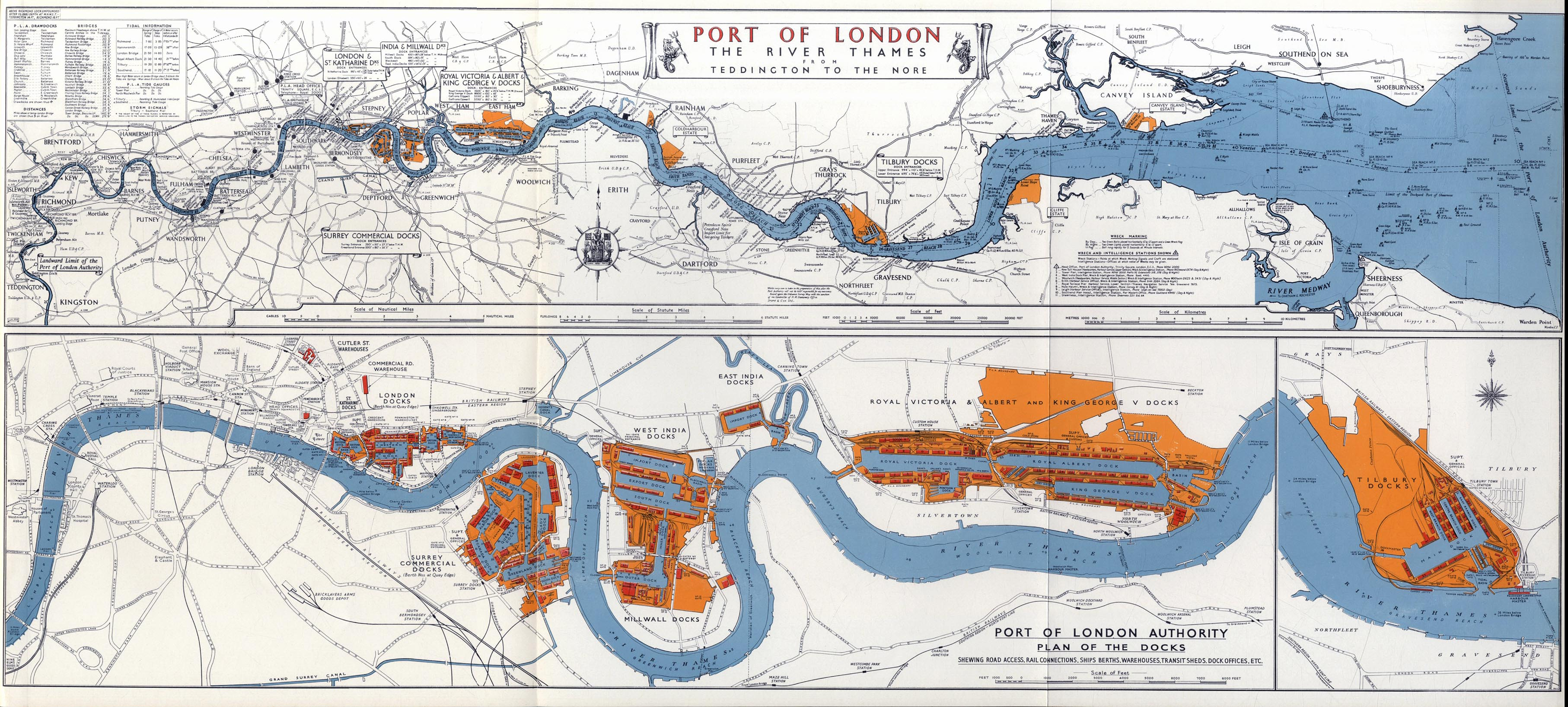 Port Of London Map  London Map