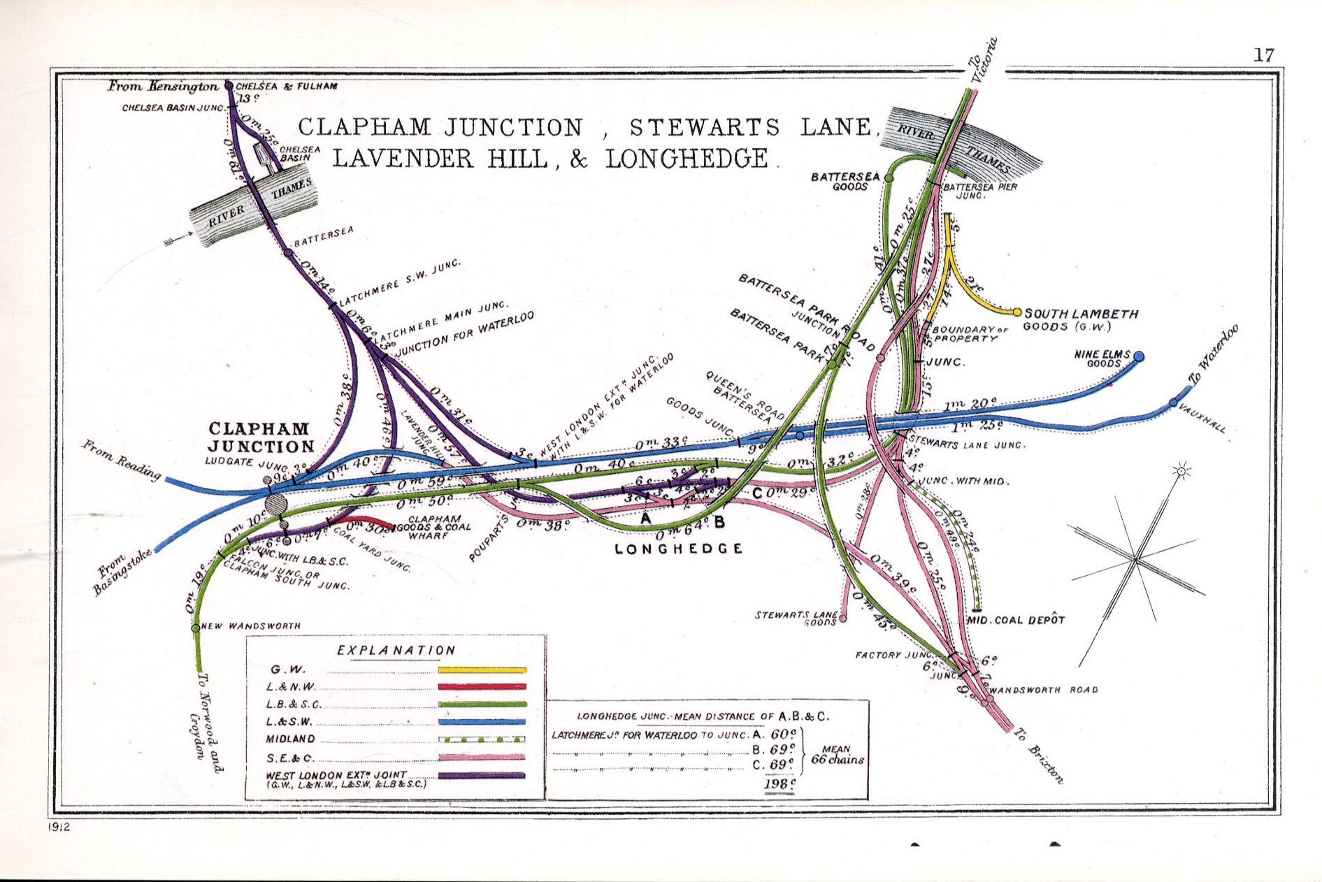 Map Menu The Railway Junction Diagram 1914