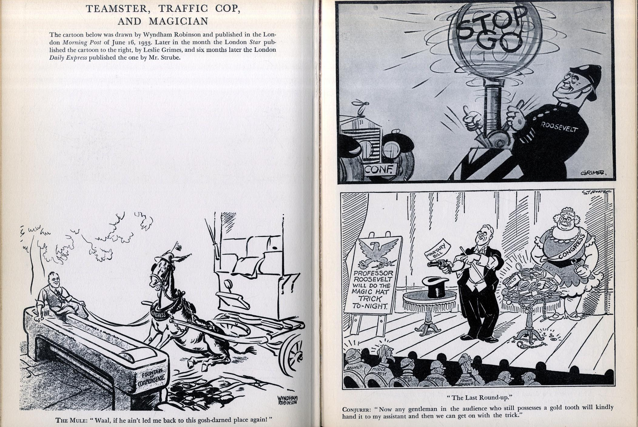 Franklin Delano Roosevelt cartoons and caricatures