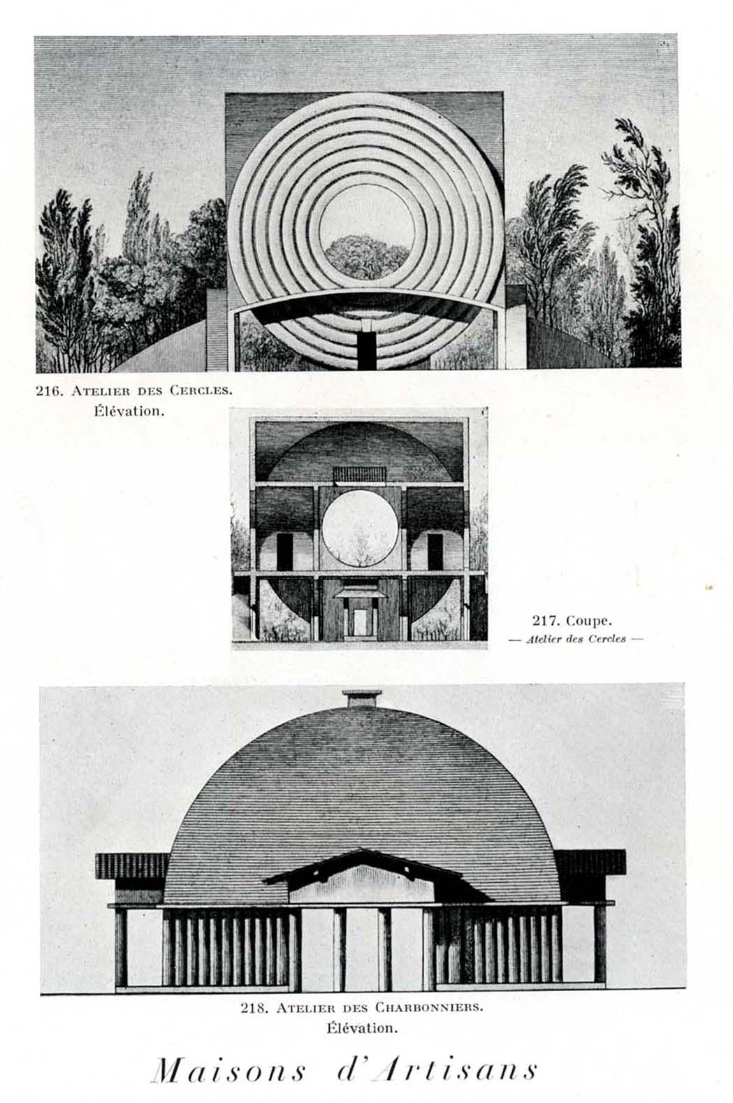 Visionary buildings claude nicolas ledoux an for Architecture de maison